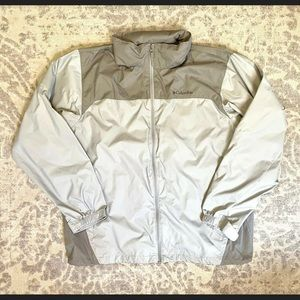 COLUMBIA Mens Nylon Hooded Windbreaker Jacket